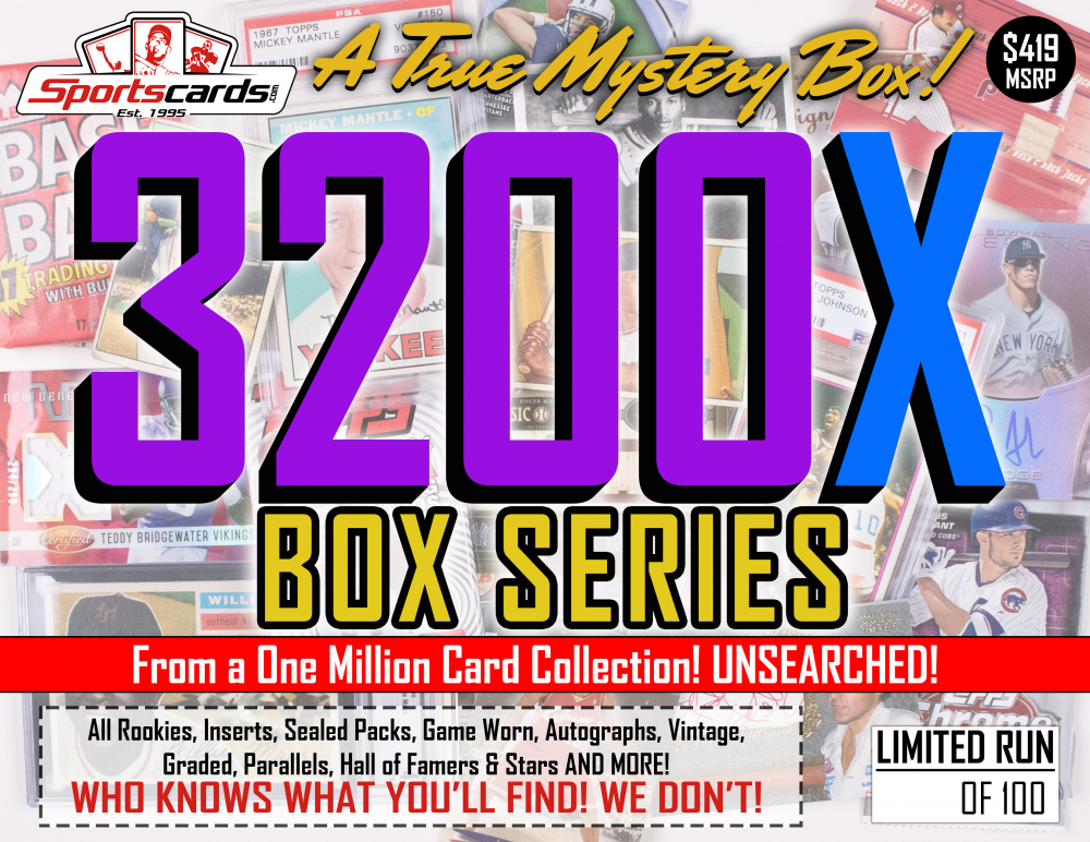 """MYSTERY 3200X SERIES"" A True Sports Card Mystery Box! at PristineAuction.com"
