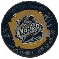 Reggie Leach Signed 2012 Winter Classic Logo Hockey Puck (JSA COA)
