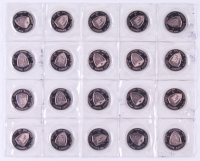 """10 Total Troy Ounce Lot of (20) Uncirculated 1990 240 Grain .999 Fine Silver Andrew Jackson """"Liberty Lobby"""" Bullion Rounds at PristineAuction.com"""