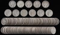 Lot of (150) Mercury Silver Dimes