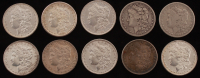 Lot of (10) 1879-1888 Morgan Silver Dollars at PristineAuction.com