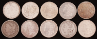 Lot of (10) 1879-1888 Morgan Silver Dollars at PristineAuction.com