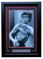 """Bruce Lee"" 19x21 Custom Framed Photo Display"