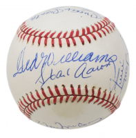 500 Home Run Club ONL Baseball Signed by (11) with Ted Williams, Hank Aaron, Willie Mays, Mickey Mantle, Reggie Jackson (Beckett LOA)