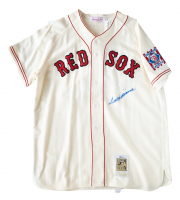 Ted Williams Signed Boston Red Sox Mitchell & Ness Jersey (Beckett LOA) at PristineAuction.com