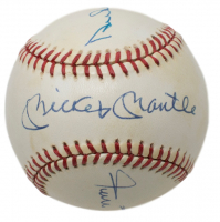 Mickey Mantle, Willie Mays & Duke Snider Signed OAL Baseball with Display Case (PSA Hologram) at PristineAuction.com