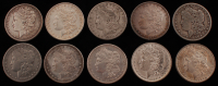 Lot of (10) 1883-1902 Morgan Silver Dollars at PristineAuction.com