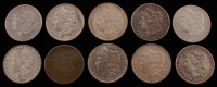 Lot of (10) 1880-1902 Morgan Silver Dollars at PristineAuction.com