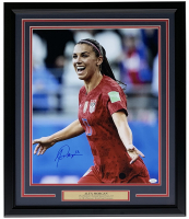 Alex Morgan Signed Team USA Soccer 22x27 Custom Framed Photo Display (JSA COA)