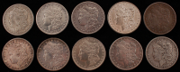 Lot of (10) 1879-1901 Morgan Silver Dollars at PristineAuction.com
