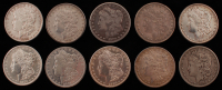 Lot of (10) 1879-1900 Morgan Silver Dollars at PristineAuction.com