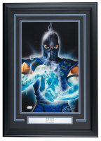 "Greg Horn Signed Mortal Kombat ""Sub Zero"" 17x25 Custom Framed Lithograph Display (JSA COA)"
