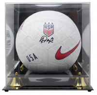 Alex Morgan Signed Team USA Logo Nike Soccer Ball with Display Case (JSA COA) at PristineAuction.com