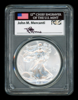 John Mercanti Signed 2015 American Silver Eagle $1 One-Dollar Coin - First Strike (PCGS MS70)