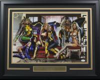 """Greg Horn Signed """"The Women of X-Men"""" 20x26 Custom Framed Lithograph Display (JSA COA)"""