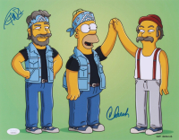 """Cheech Marin & Tommy Chong Signed """"The Simpsons"""" 11x14 Photo (JSA COA) at PristineAuction.com"""