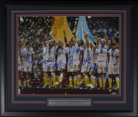 2015 Team USA Women's World Cup 22x27 Custom Framed Photo Signed By (9) With Carli Lloyd, Julie Ertz, Morgan Brian, Shannon Boxx (TriStar Hologram) at PristineAuction.com