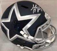 Leighton Vander Esch Signed Dallas Cowboys AMP Full-Size Speed Helmet (Beckett Hologram)