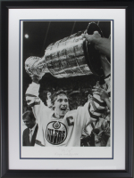 "Wayne Gretzky LE ""The Cup"" 21x28 Custom Framed Hulton Archive Giclee Display (PCV COA)"