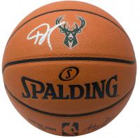 Giannis Antetokounmpo Signed Official NBA Game Ball Series Bucks Logo Basketball (JSA COA) at PristineAuction.com