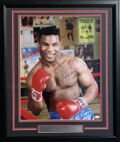 Mike Tyson Signed 22x27 Custom Framed Photo Display (JSA Hologram)