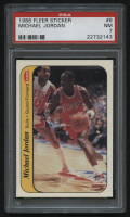 1986-87 Fleer Sticker #8 Michael Jordan RC (PSA 7)
