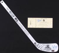 "Patrice Bergeron Signed Boston Bruins 24.5"" Mini Hockey Stick & 2014 NHL Awards Event Ticket (Your Sports Memorabilia Store Hologram)"