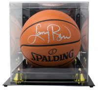Larry Bird Signed NBA Game Ball Series Basketball with Display Case (Beckett COA) at PristineAuction.com