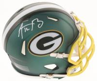 Aaron Rodgers Signed Packers Blaze Speed Mini-Helmet (Fanatics Hologram) at PristineAuction.com