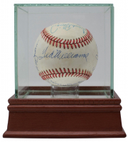 500 Home Run Club ONL Baseball Signed by (11) with Mickey Mantle, Hank Aaron, Willie Mays, Ted Williams With High-Quality Display Case (Beckett LOA)