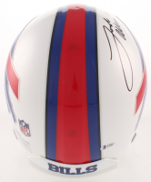 Josh Allen Signed Buffalo Bills Full-Size Authentic On-Field Helmet (Beckett COA) at PristineAuction.com