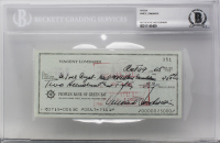 Vince Lombardi Signed 1968 Personal Bank Check (BGS Encapsulated)