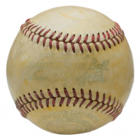 Babe Ruth & Dizzy Dean Signed OAL Baseball with High-Quality Display Case (PSA LOA) at PristineAuction.com