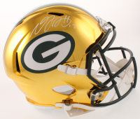 Davante Adams Signed Green Bay Packers Full-Size Chrome Speed Helmet (Beckett COA) at PristineAuction.com