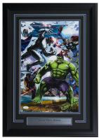 """Greg Horn Signed """"Marvel Secret Wars: Heroes"""" 17x25 Custom Framed Lithograph Display (JSA COA)"""
