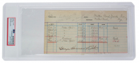 Babe Ruth Signed Ledger Page (PSA Encapsulated) at PristineAuction.com