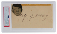 Cy Young Signed 1951 Government Postcard (PSA Encapsulated & JSA LOA) at PristineAuction.com