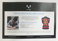 "Lionel Messi Signed Barcelona Nike Jersey Inscribed ""Leo"" (Beckett LOA & Icons COA) at PristineAuction.com"