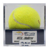 Serena Williams vs. Kiki Bertens Match-Used 2015 U.S. Open Wilson Tennis Ball (MelGray LOA) at PristineAuction.com