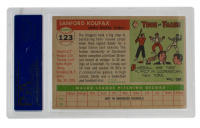 Sandy Koufax Signed 1955 Topps #123 (PSA 4) at PristineAuction.com