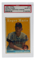 Roger Maris Signed 1958 Topps #47 RC (PSA 2)