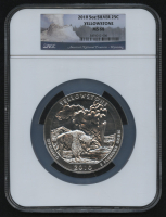 2010 5oz Silver Jumbo 25¢ - Yellowstone - Wyoming - America The Beautiful - ATB - Jumbo Quarter (NGC MS 68) at PristineAuction.com