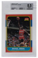 1986-87 Fleer #57 Michael Jordan RC (BGS 8.5)
