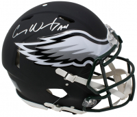 "Carson Wentz Signed Philadelphia Eagles Full-Size Authentic On-Field Matte Black Speed Helmet Inscribed ""AO1"" (Fanatics Hologram)"
