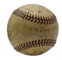 1940 Pittsburgh Pirates Baseball Team-Signed by (27) with Honus Wagner, Frank Frisch, Arky Vaughan, Mace Brown, Ray Berres, Rip Sewell, Bill Brubaker, Ray Harrell (PSA LOA)