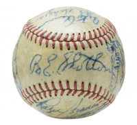 1948 Brooklyn Dodgers ONL Baseball Team-Signed by (22) with Duke Snider, Pee Wee Reese, Roy Campanella, Jackie Robinson, Burt Shotton, Pete Reiser, Gil Hodges, Carl Furillo, Billy Cox (PSA LOA) at PristineAuction.com