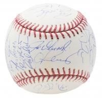2008 New York Yankees OML Baseball Team-Signed by (29) with Derek Jeter, Mariano Rivera, Alex Rodriguez, Robinson Cano, Melky Cabrera, Joe Girardi (MLB Hologram)