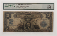1899 $2 Two Dollars U.S. Silver Certificate Large Size Bank Note (PMG 15)