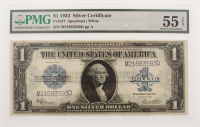 1923 $1 One Dollar Blue Seal Large Size Silver Certificate Bank Note (PMG 55) (EPQ) at PristineAuction.com