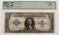1923 $1 One Dollar Blue Seal Large Size Silver Certificate Bank Note (PCGS 55) at PristineAuction.com